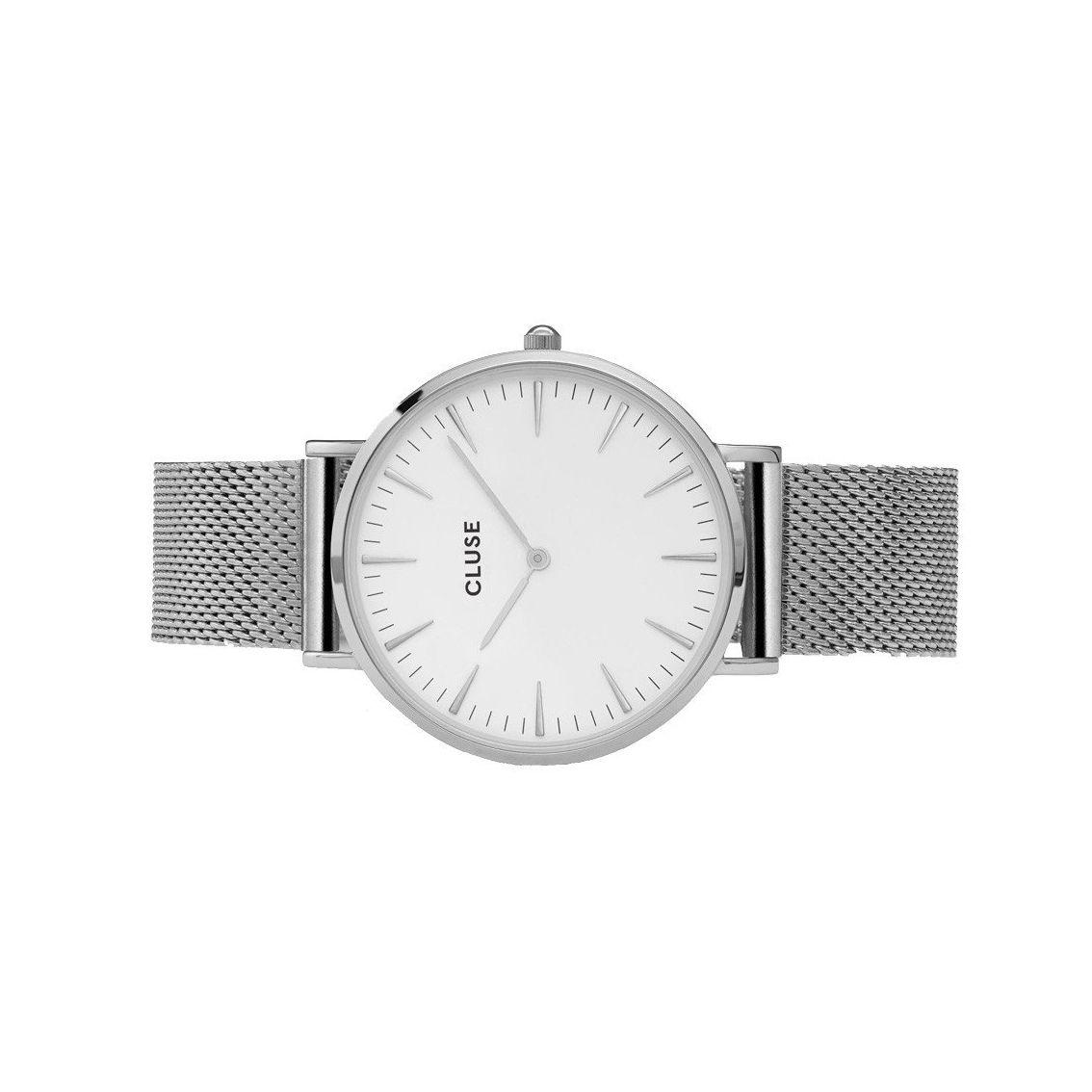 Montre Cluse La Bohème Mesh Silver/White vue 2