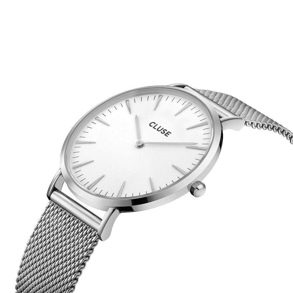 Montre Cluse La Bohème Mesh Silver/White vue 3