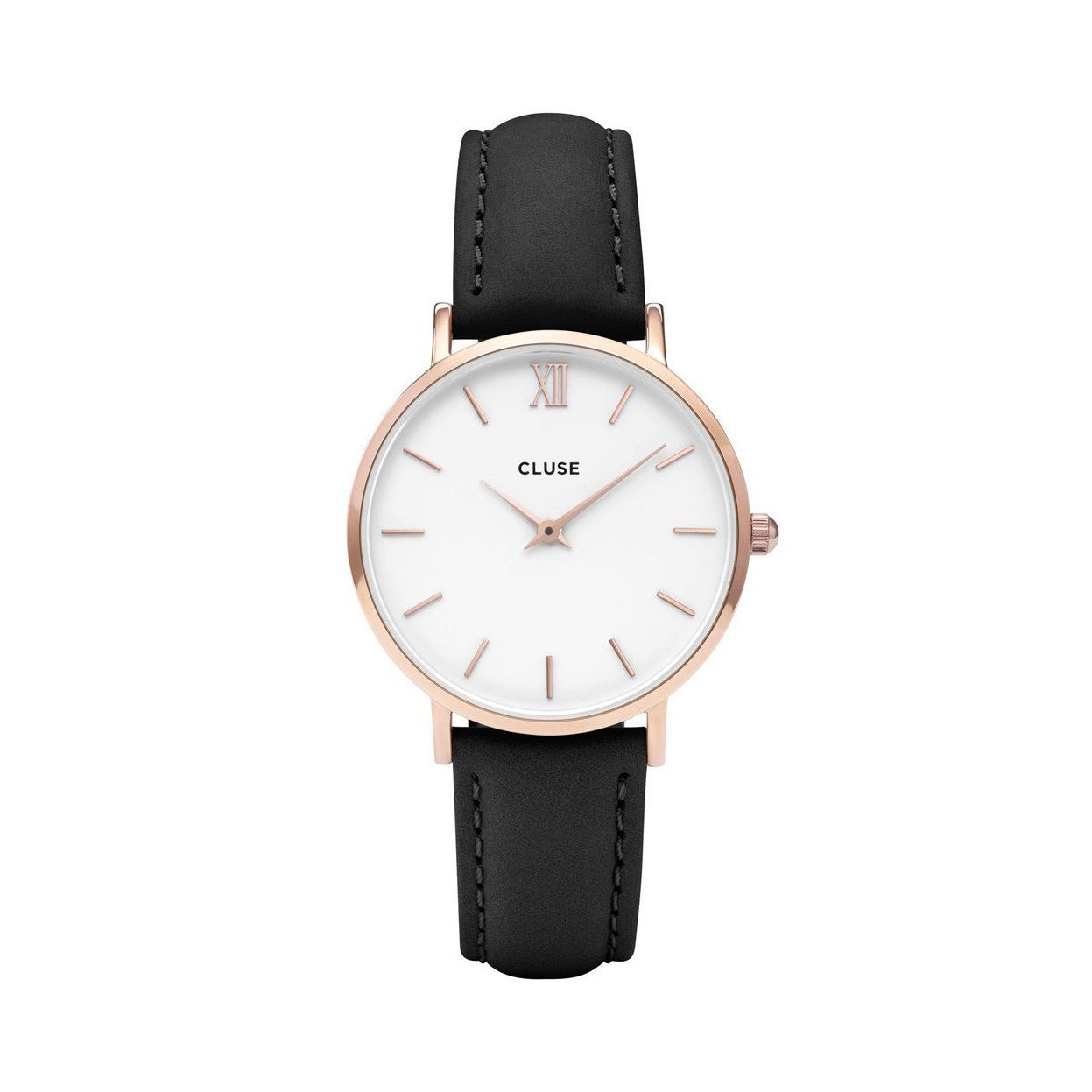 Cluse Minuit Rose Gold White/Black vue 1