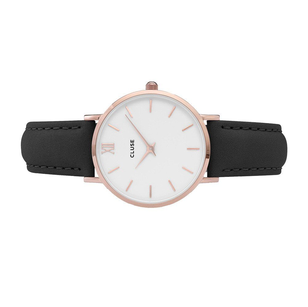 Cluse Minuit Rose Gold White/Black vue 2
