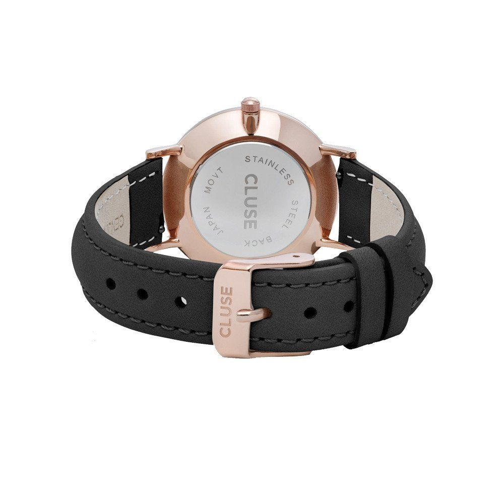 Cluse Minuit Rose Gold White/Black vue 3