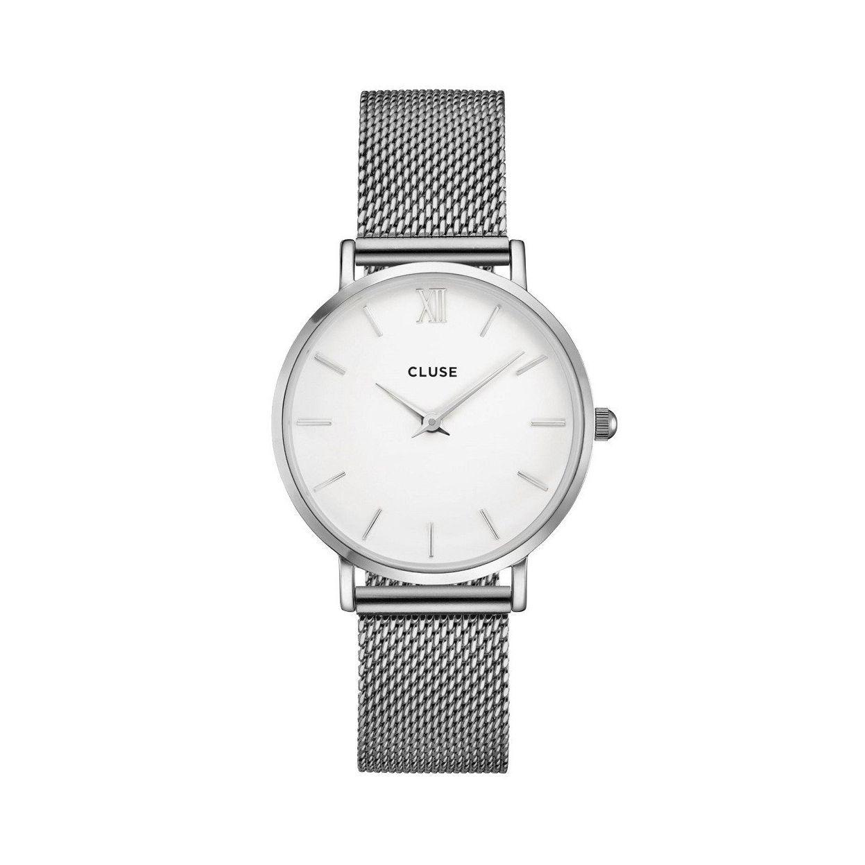 Montre Cluse Minuit Mesh Silver/White vue 1