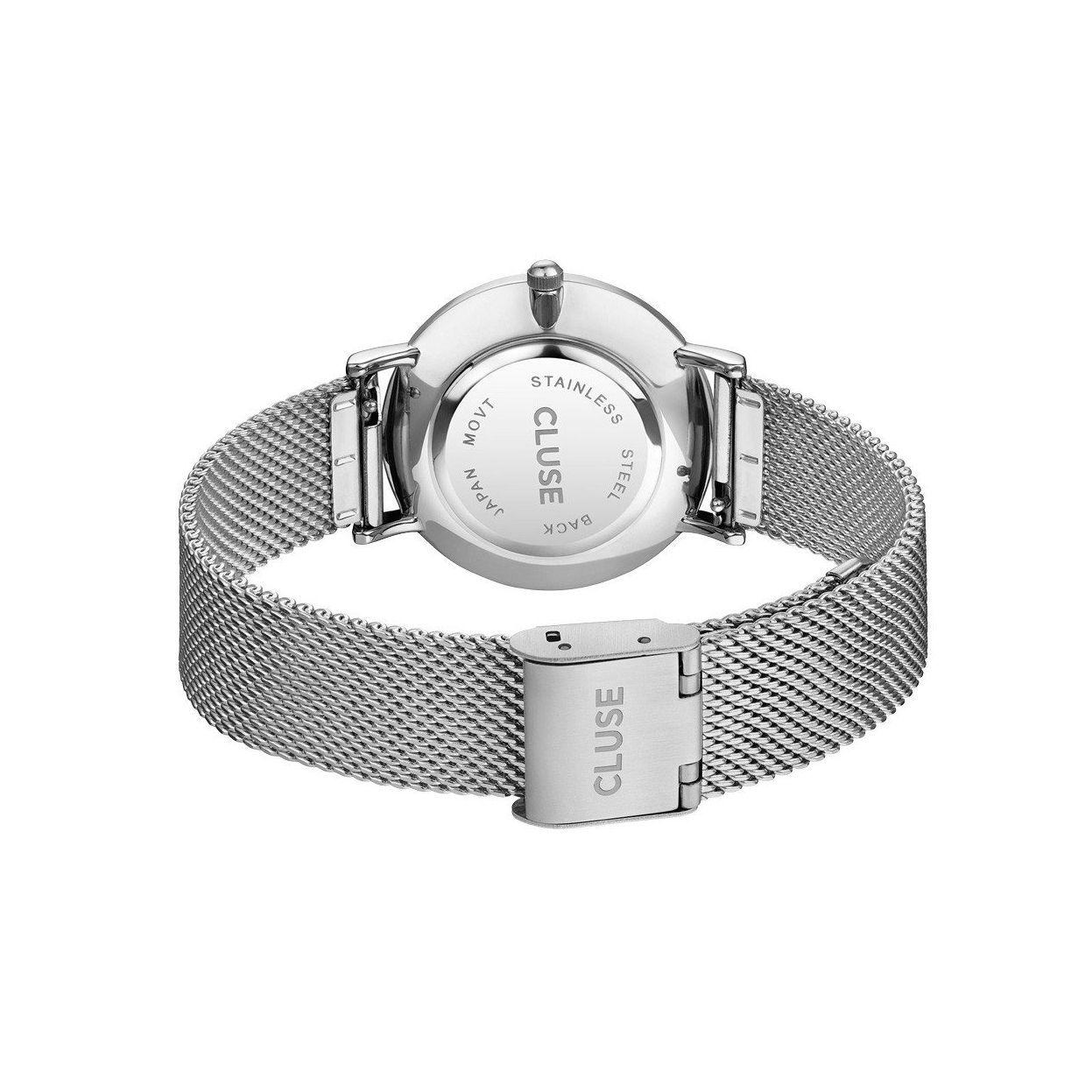 Montre Cluse Minuit Mesh Silver/White vue 2