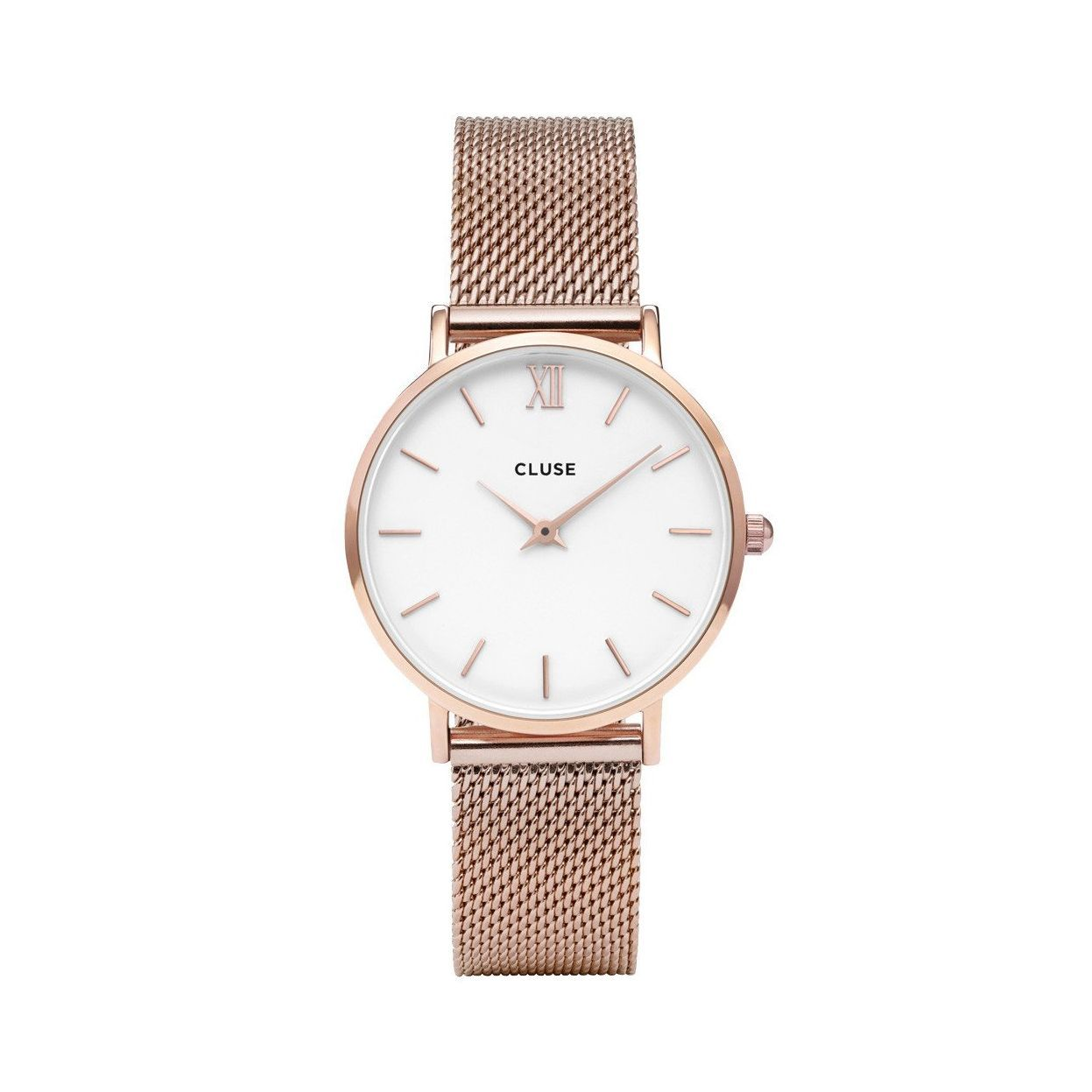 Cluse Minuit Mesh Rose Gold/White vue 1