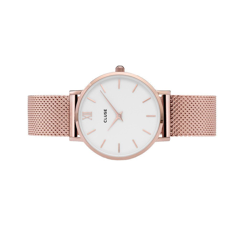 Cluse Minuit Mesh Rose Gold/White vue 2