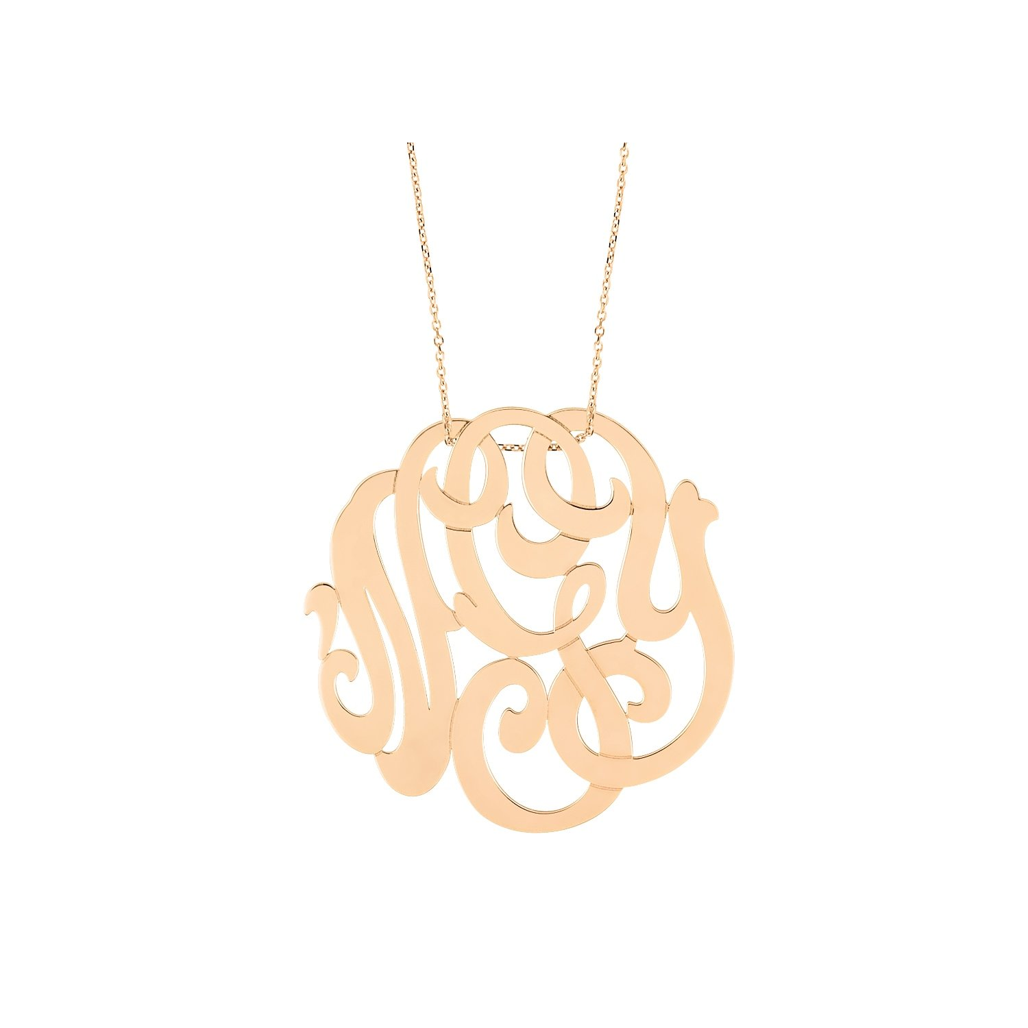 Collier GYNETTE NY MONOGRAMS en or blanc