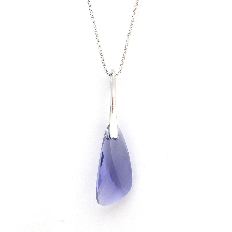 Collier Indicolite Wing en argent et cristaux Swarovski violets