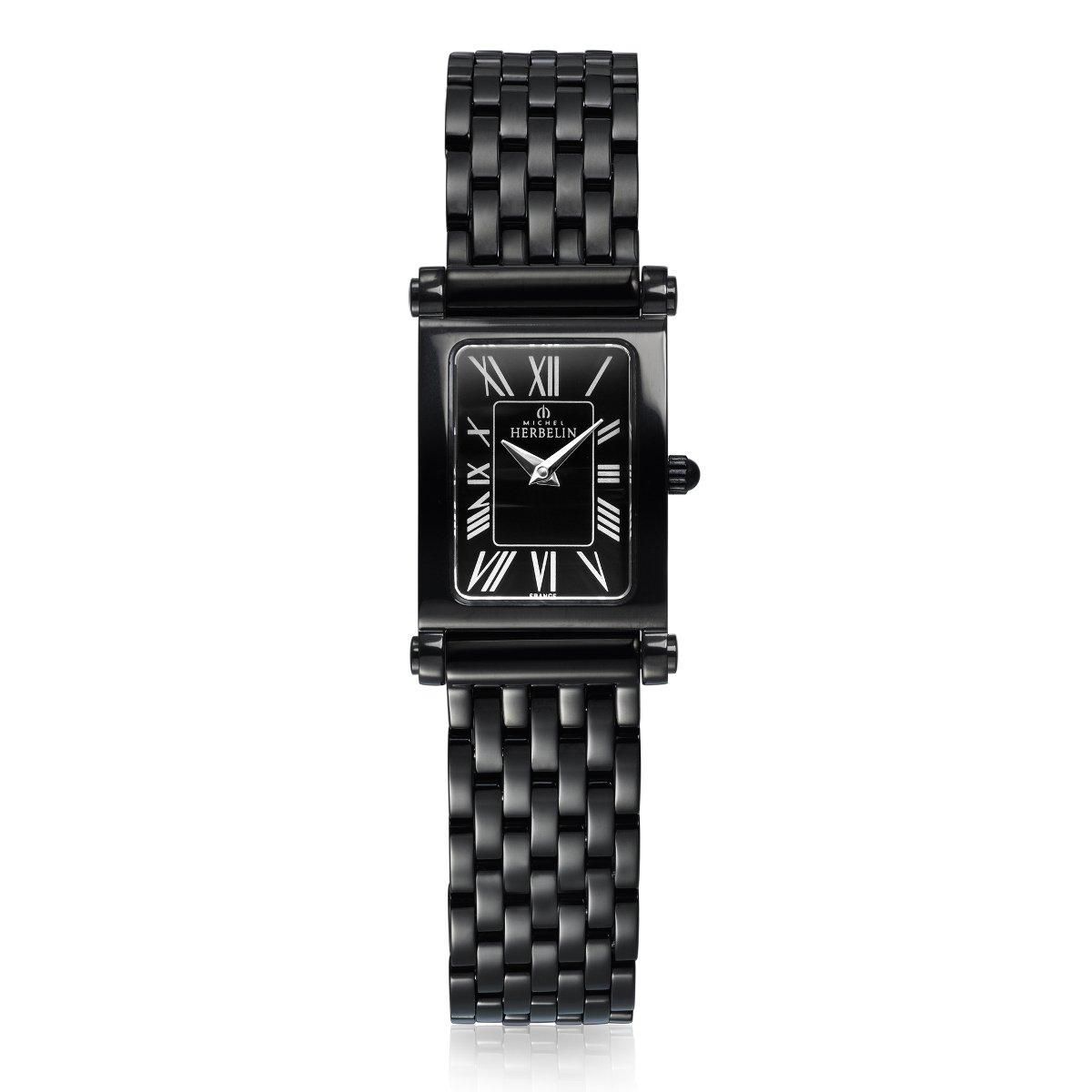 Coffret de montre Michel Herbelin Antarès Rock Chic Edition, bracelet acier et cuir vue 2