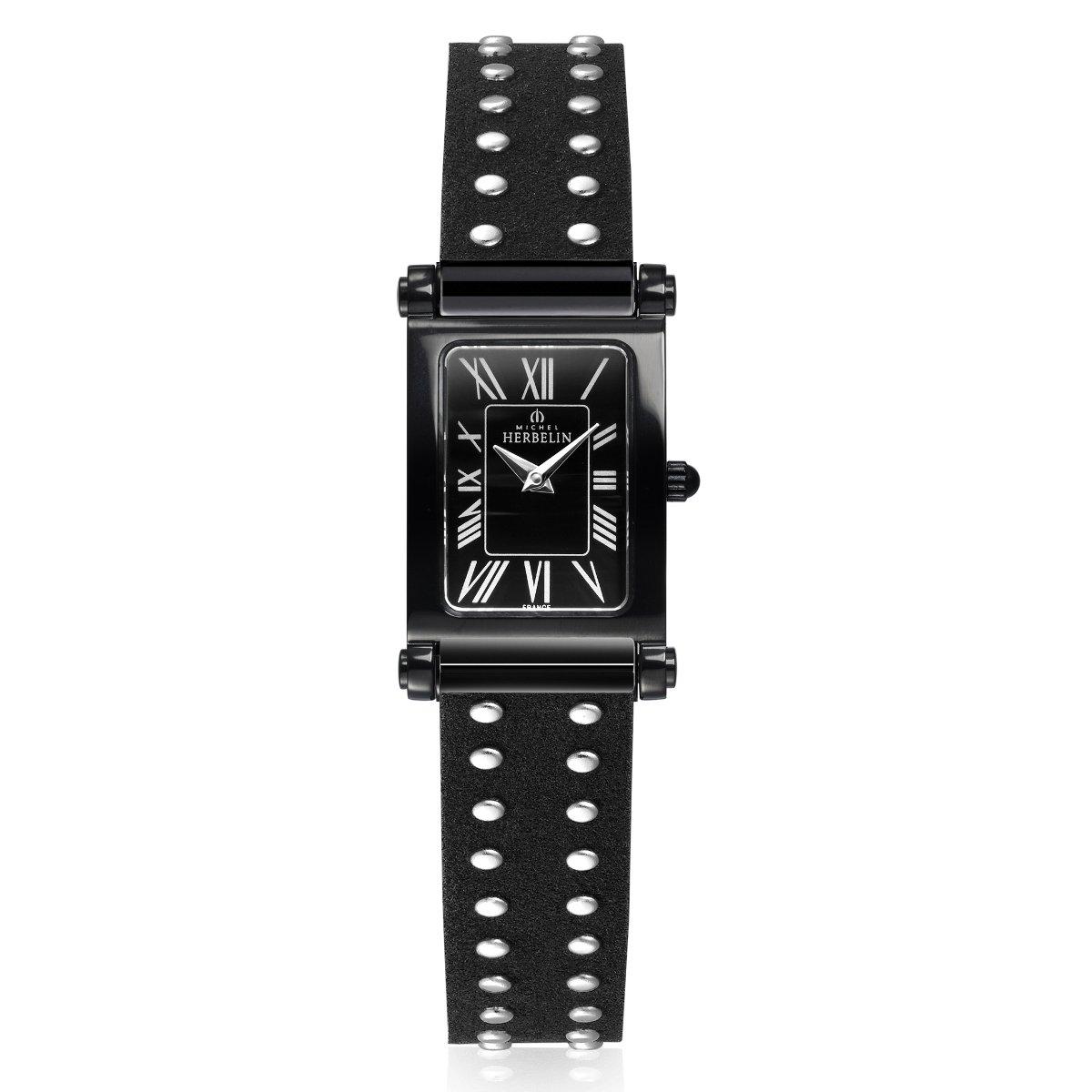 Coffret de montre Michel Herbelin Antarès Rock Chic Edition, bracelet acier et cuir vue 3