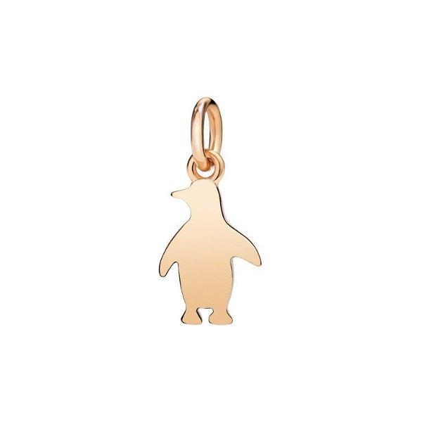 Pendentif sur cordon DoDo Pingouin en Or rose