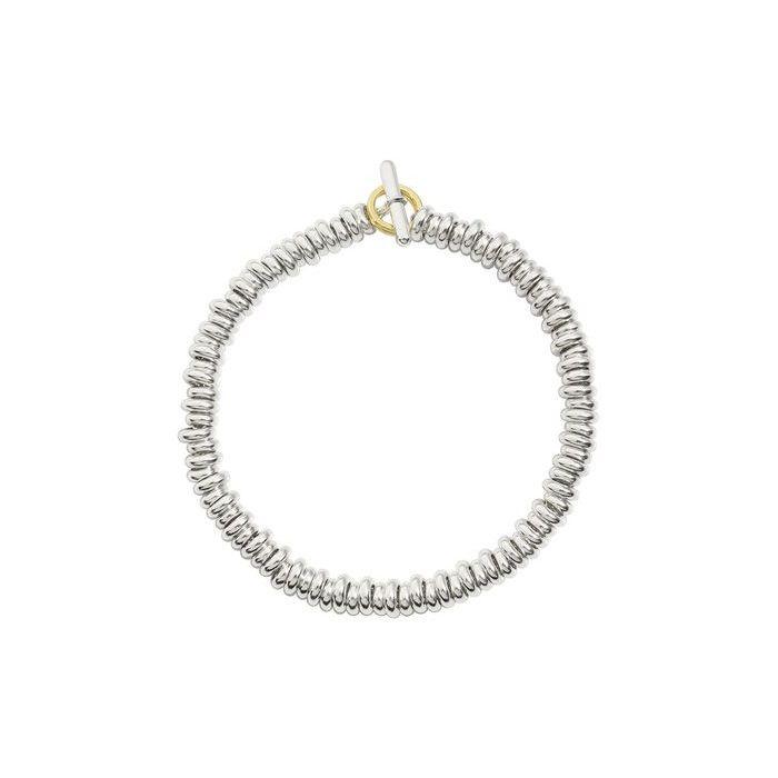 Bracelet DoDo Rondelles en Argent et or jaune longueur 16.5cm
