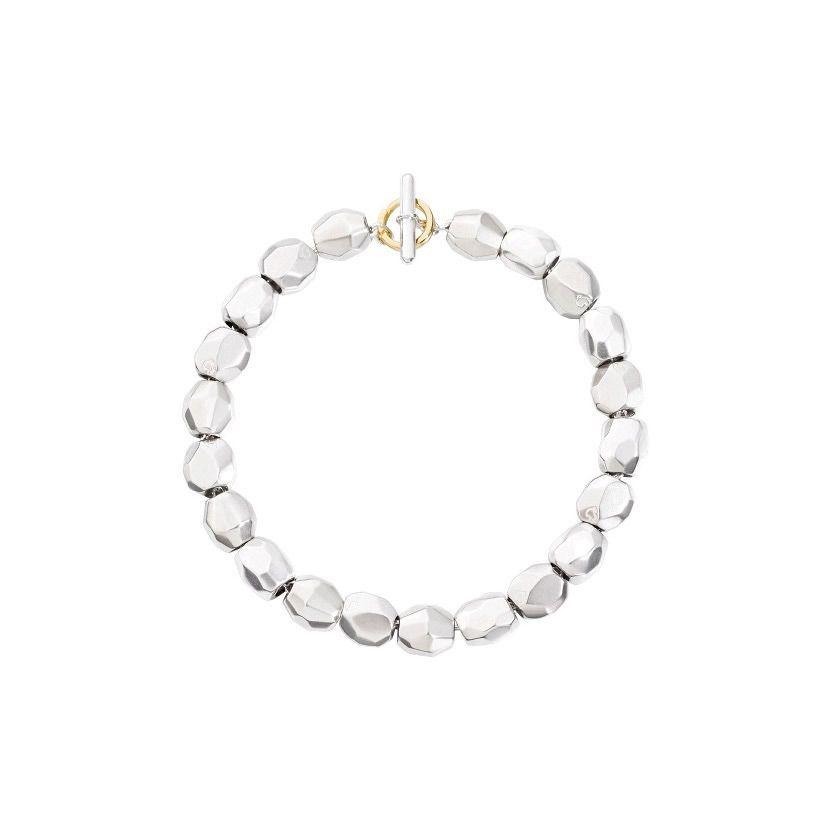 Bracelet DoDo Pépites en Argent et or jaune longueur 18.5cm