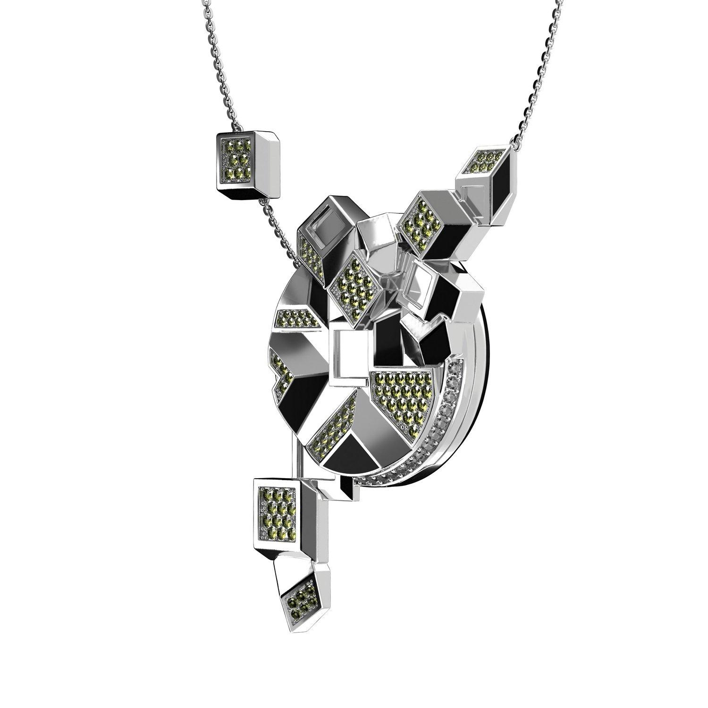 Collier Dorothy en plaqué argent et cristaux Swarovski vue 2