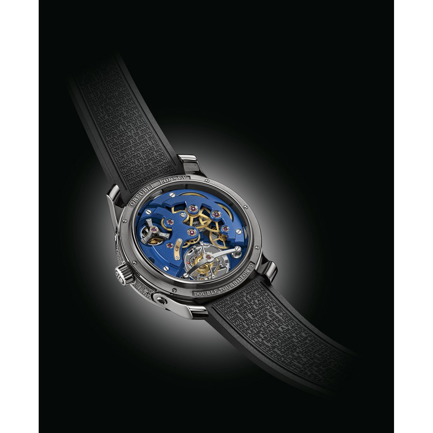 Montre Greubel Technique Blue Achat Forsey Tourbillon Double FJK1l3Tc