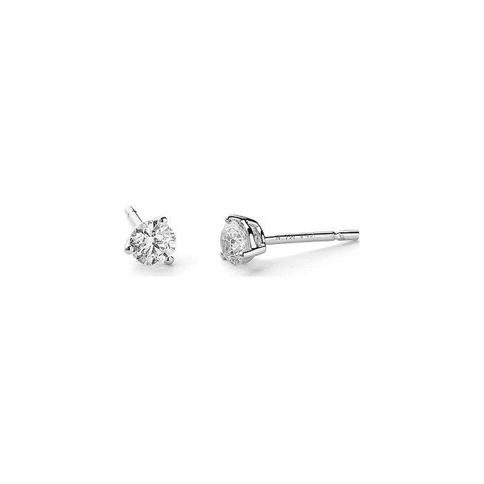 Boucles d'oreilles en or blanc et diamants de 0.8ct