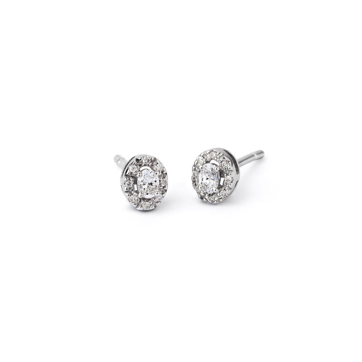 Boucles d'oreilles en or blanc et diamants de 0.35ct