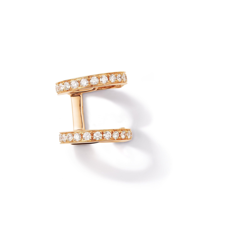 Mono boucle d'oreille Repossi Berbere Monotype en or rose et diamants
