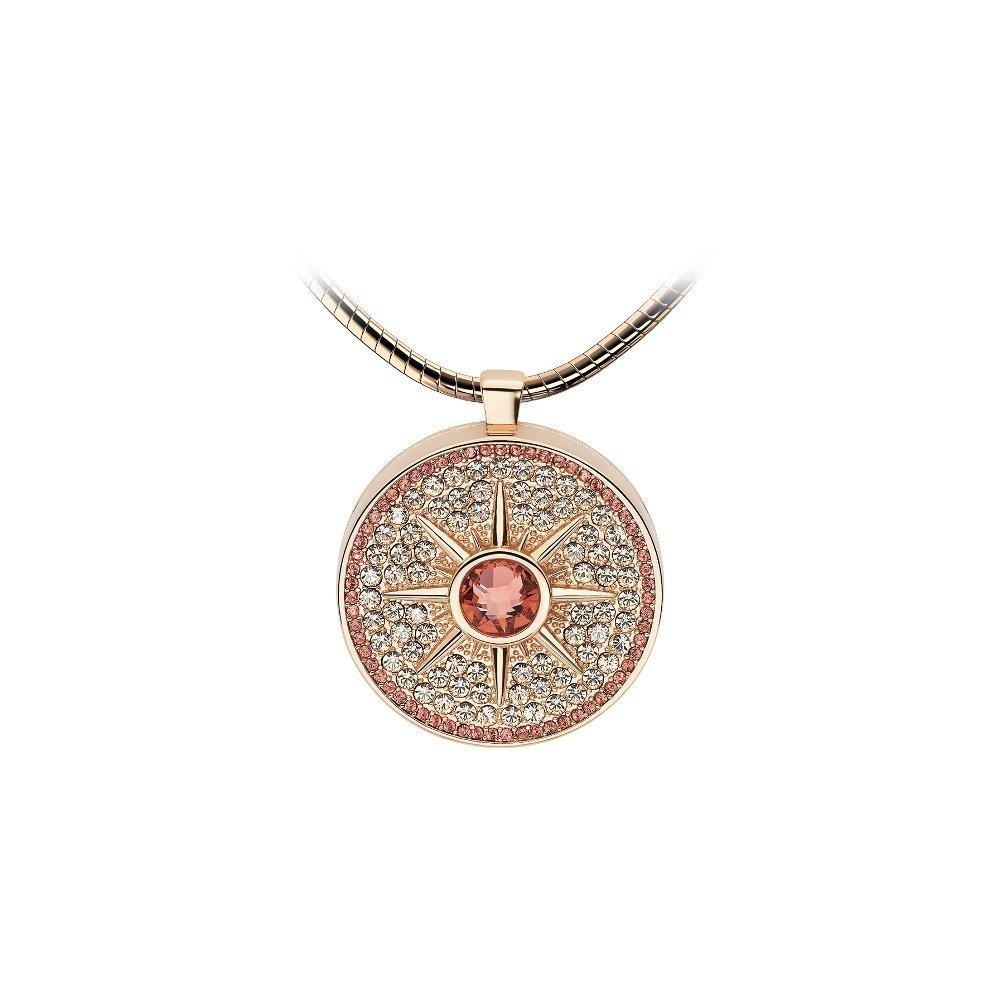Pendentif Épure en plaqué or rose et cristaux Swarovski
