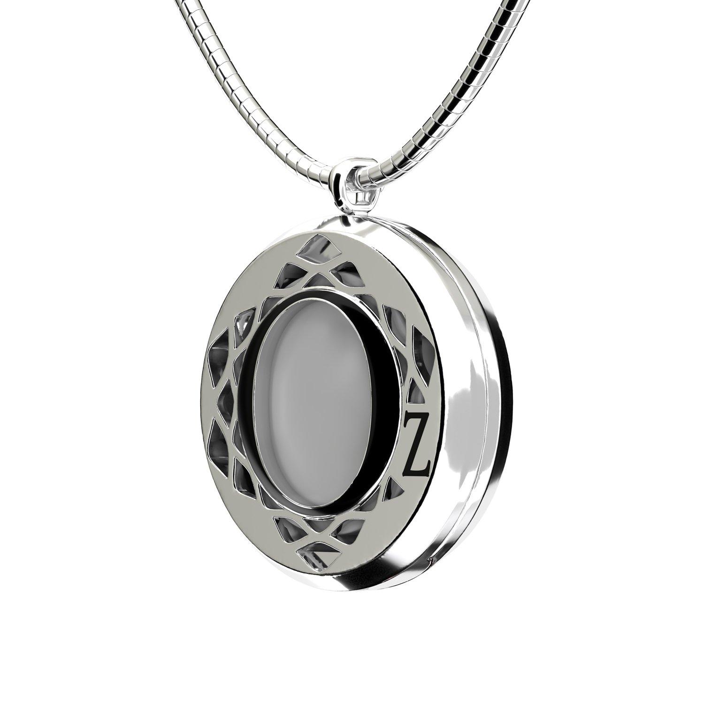 Pendentif Épure en plaqué argent, émail noir et cristaux Swarovski vue 3