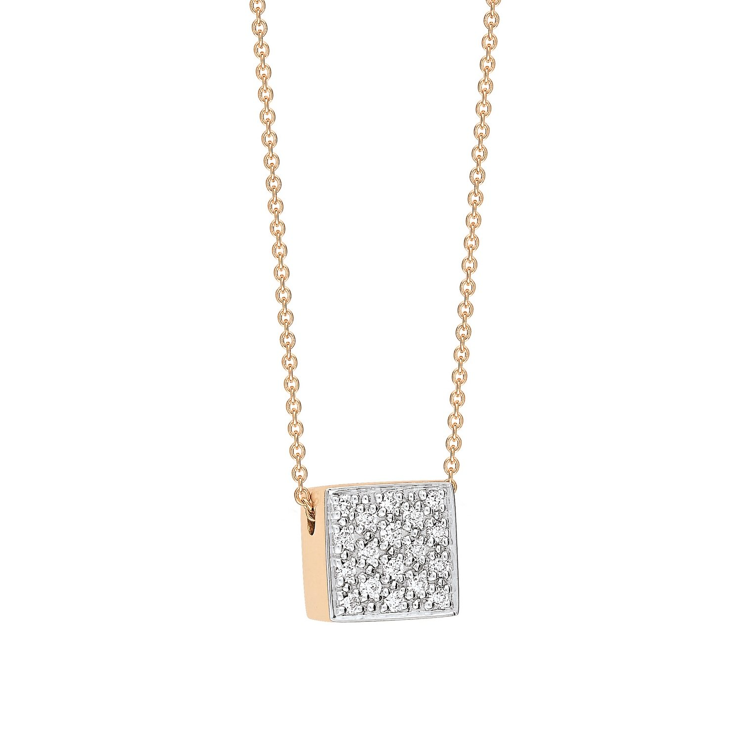 Collier GINETTE NY EVER en or blanc et diamants