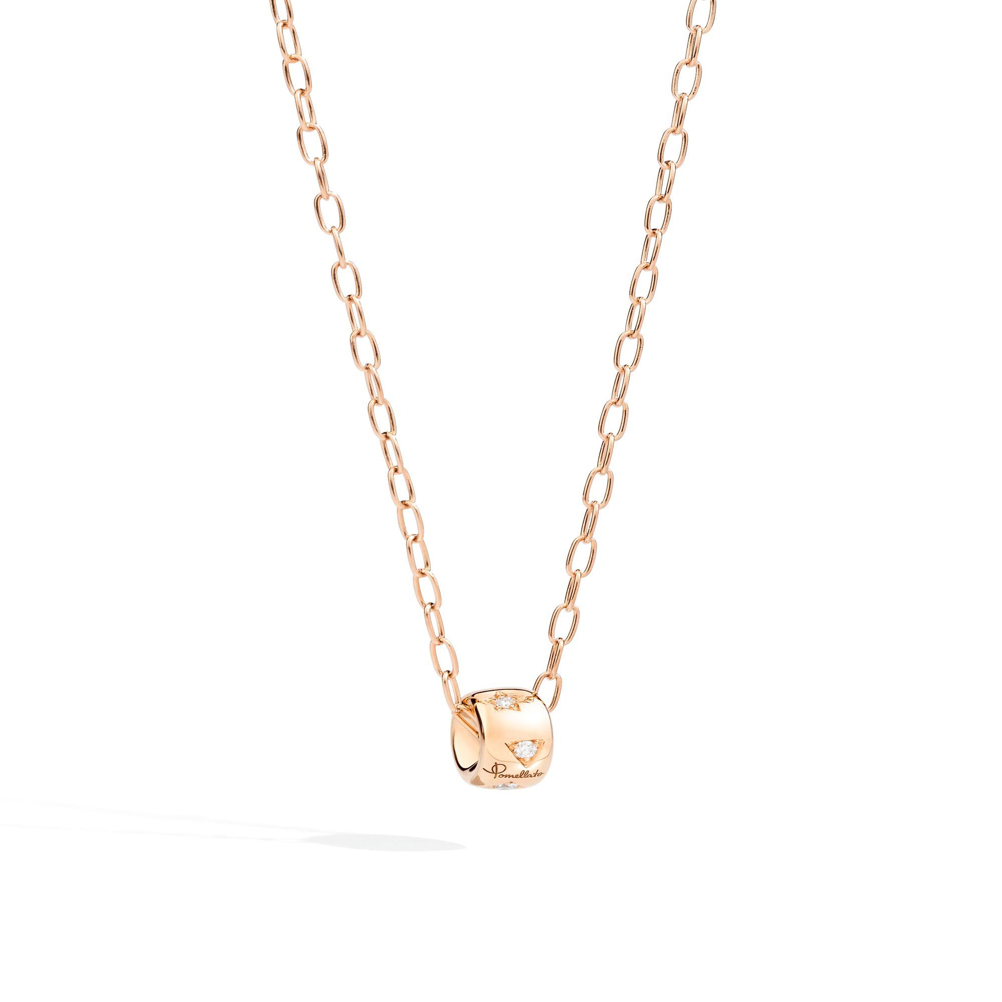 Pendentif Pomellato Iconica en or rose et diamants