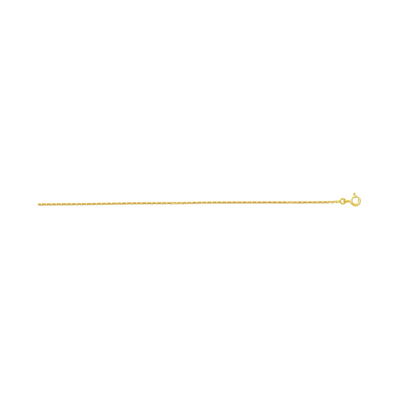 Chaîne maille forçat diamantée en or jaune épaisseur 1.25mm