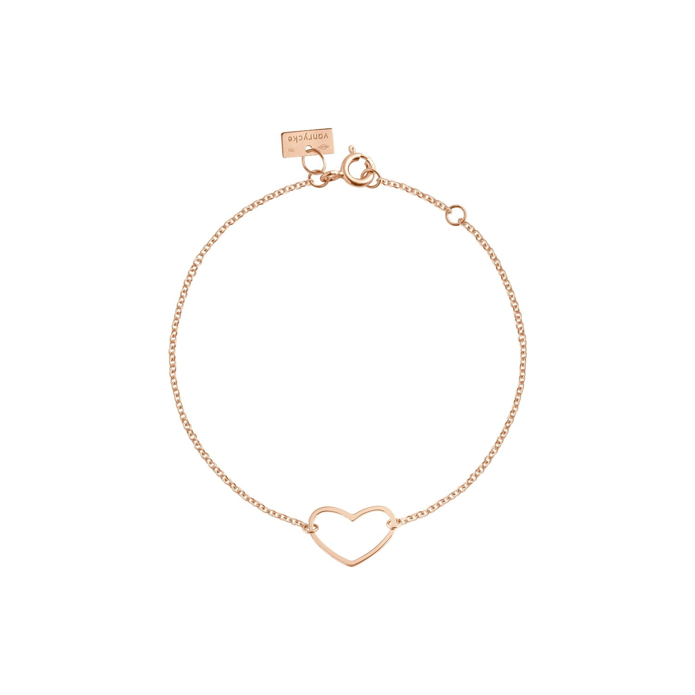 Bracelet Vanrycke Angie en or rose vue 1