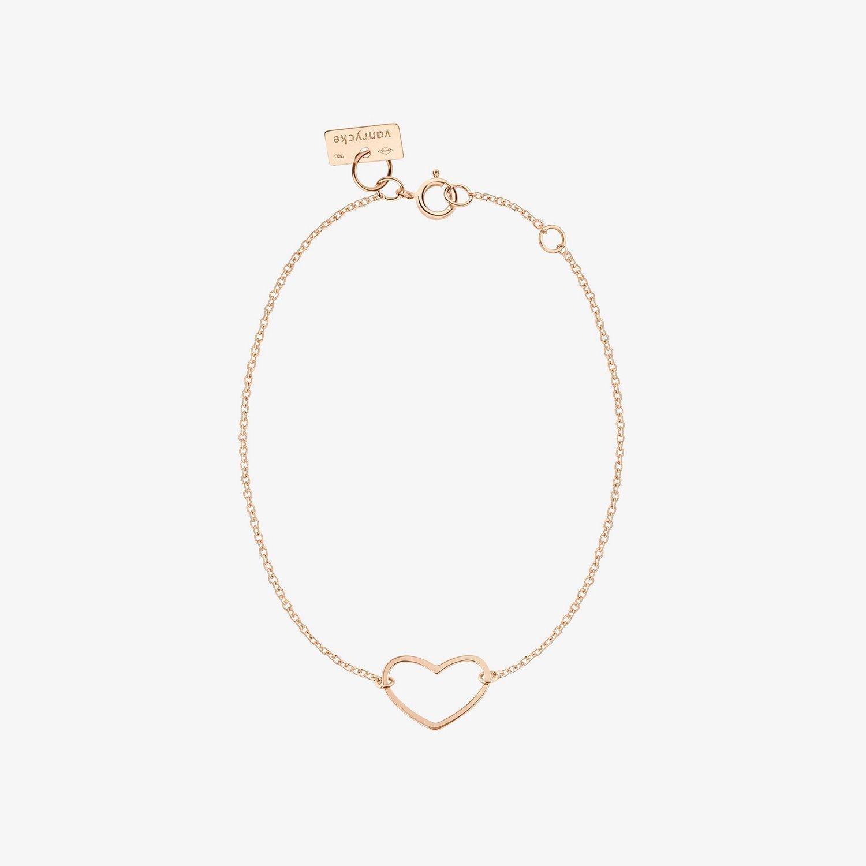 Bracelet Vanrycke Angie en or rose vue 2