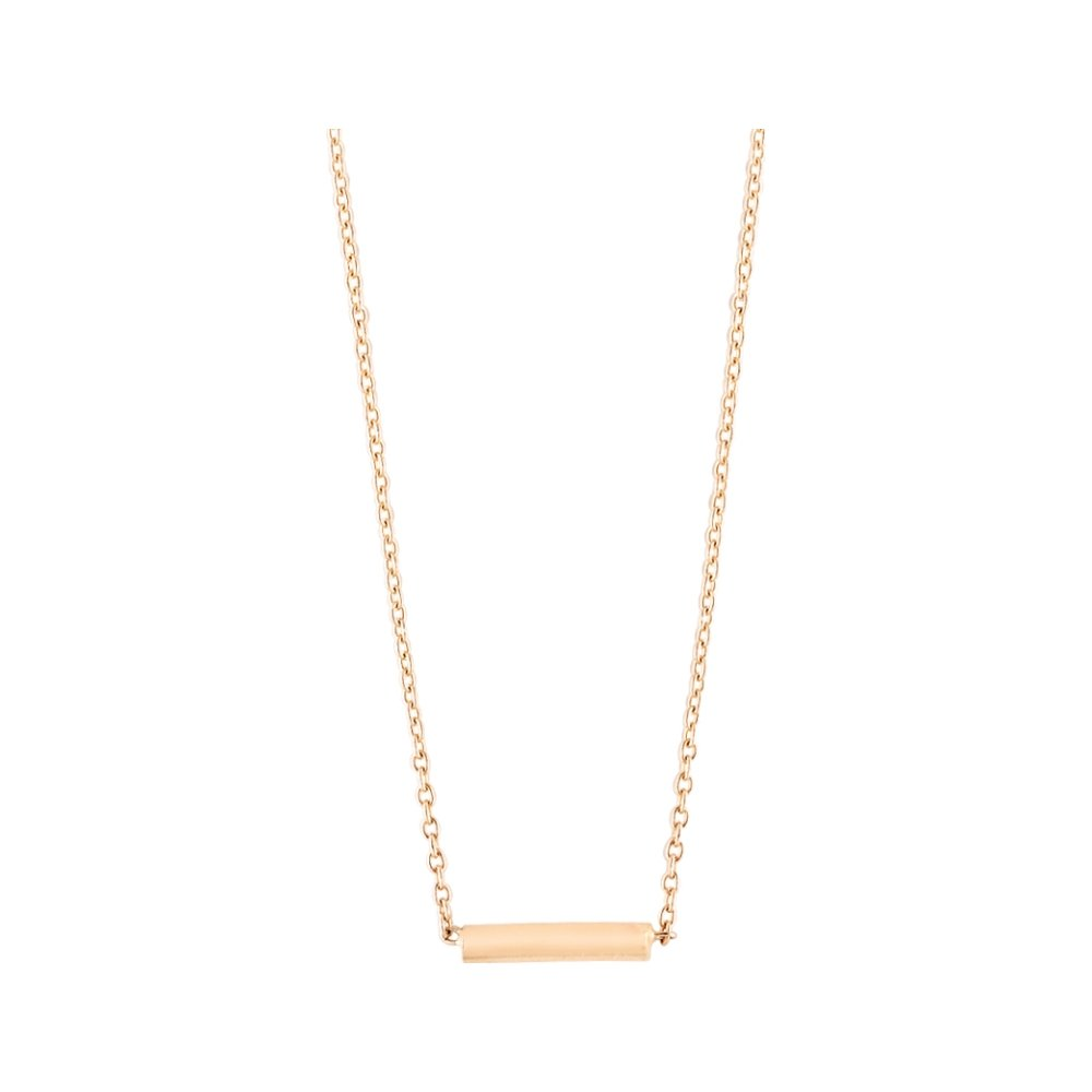 Collier GINETTE NY GOLD & DIAMOND STRIP en or rose