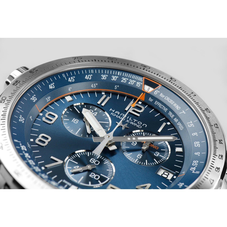 Montre Hamilton Khaki Aviation Khaki X-Wind GMT Chrono Quartz vue 4