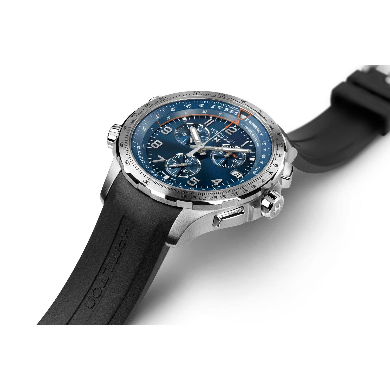 Montre Hamilton Khaki Aviation Khaki X-Wind GMT Chrono Quartz vue 2