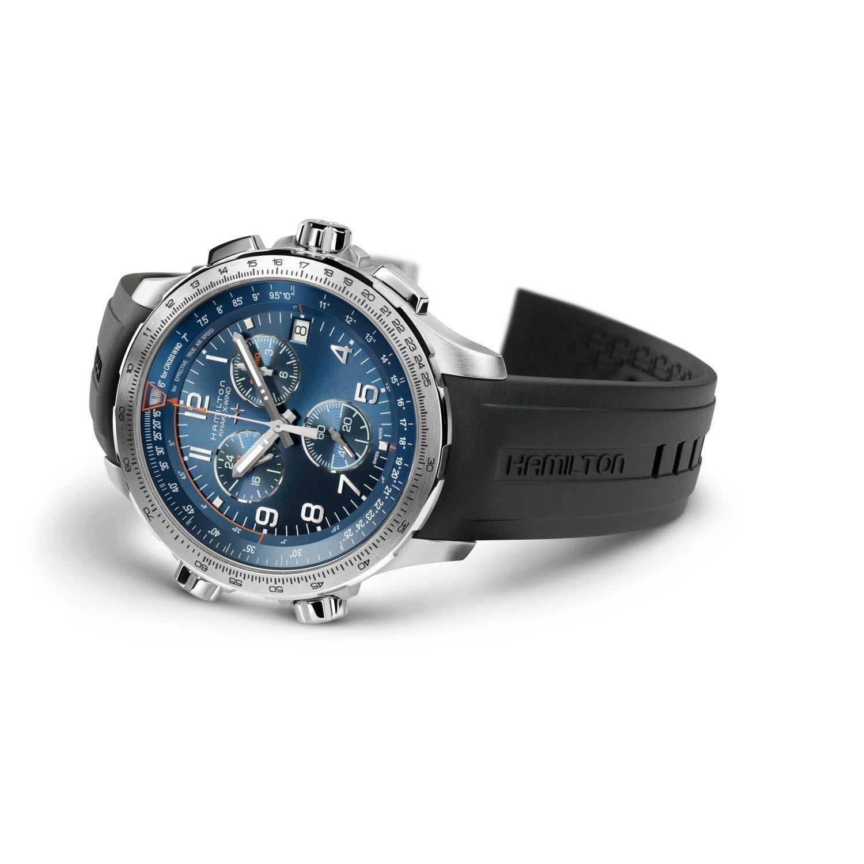 Montre Hamilton Khaki Aviation Khaki X-Wind GMT Chrono Quartz vue 3