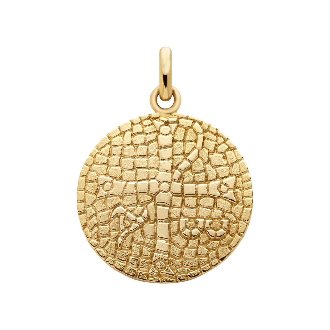 Médaille Arthus Bertrand Alpha & Oméga en or jaune, 18mm
