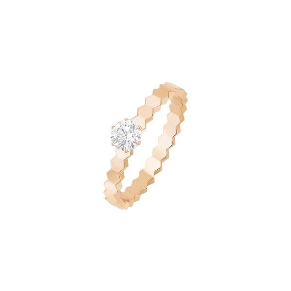 Solitaire Chaumet Bee My Love en or rose et diamant