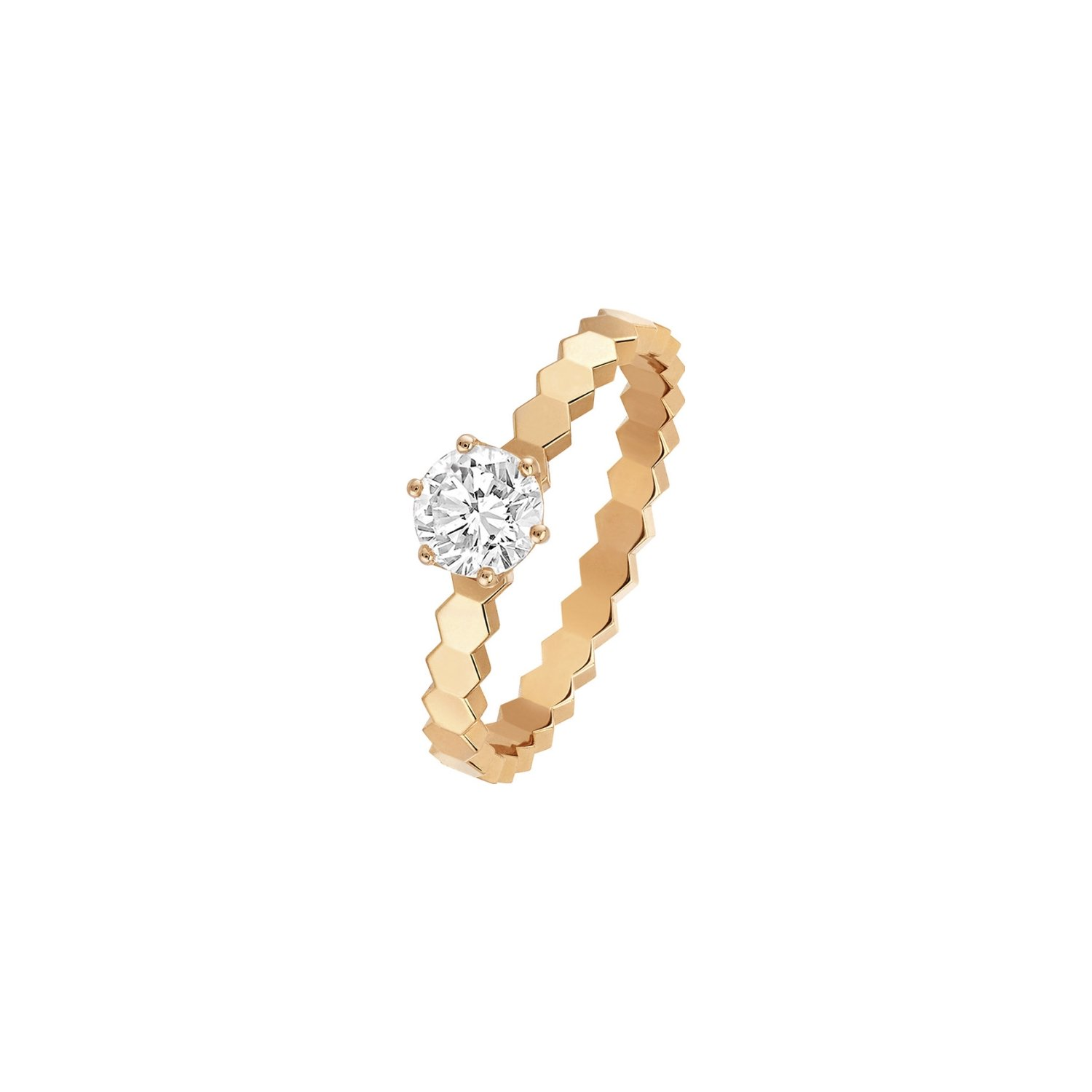Solitaire Chaumet Bee My Love en or rose et diamant