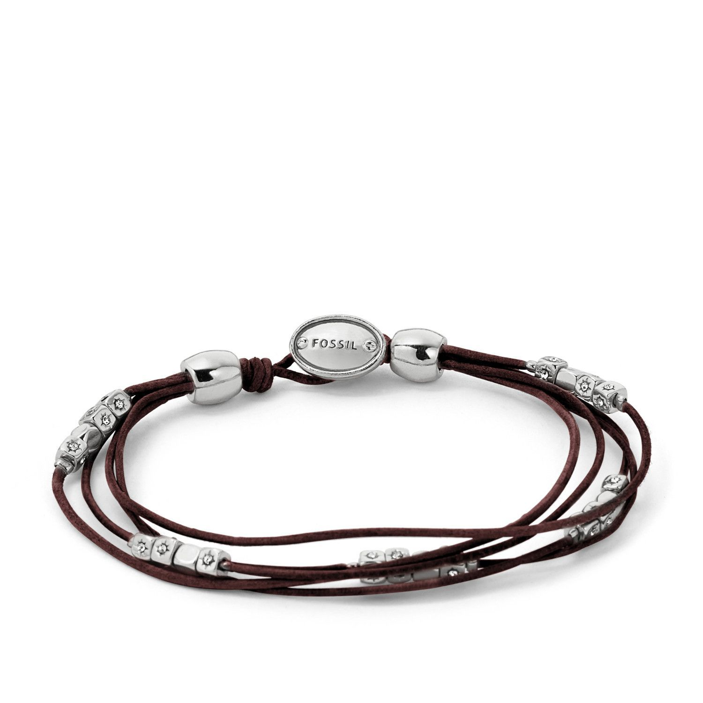 Bracelet FOSSIL en cuir chocolat