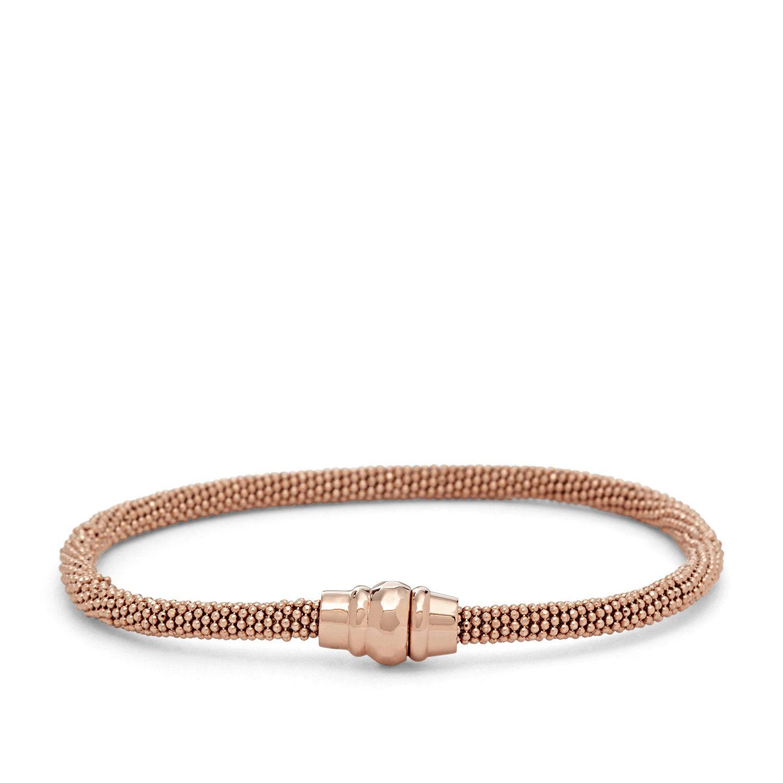 Bracelet FOSSIL en plaqué or rose