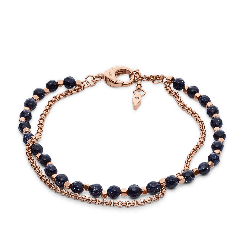 Bracelet FOSSIL en acier PVC, plaqué or rose
