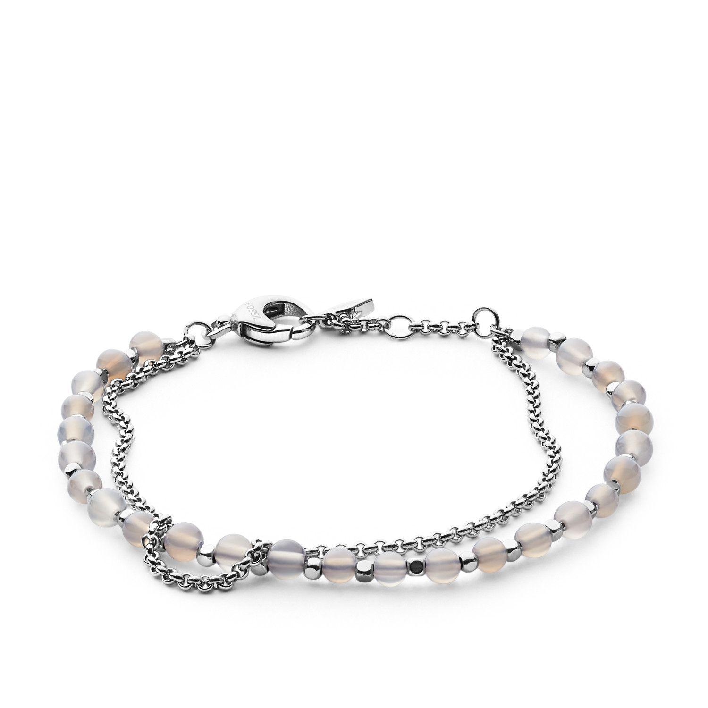 Bracelet FOSSIL en acier PVD pierre semi-précieuse