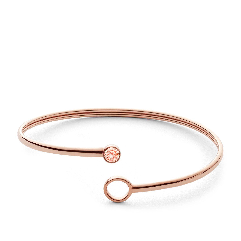Bracelet FOSSIL en plaqué or rose   vue 2