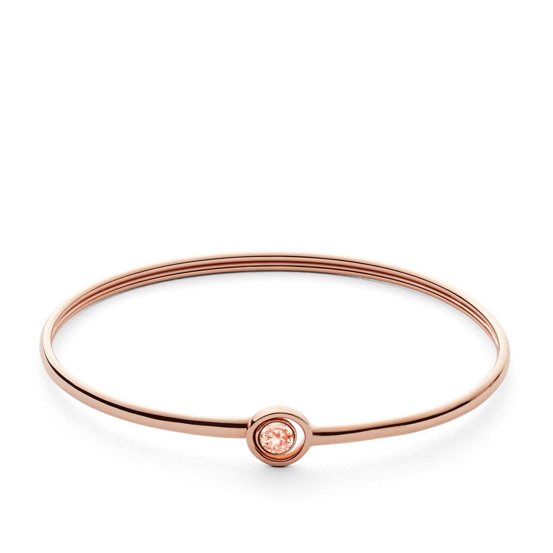 Bracelet FOSSIL en plaqué or rose   vue 1