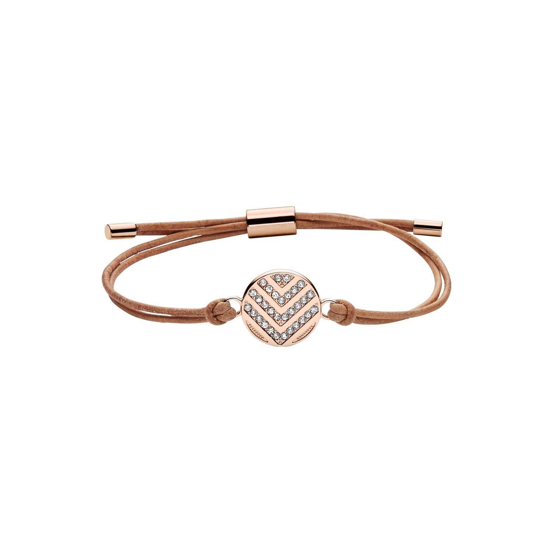 Bracelet FOSSIL en acier et verre