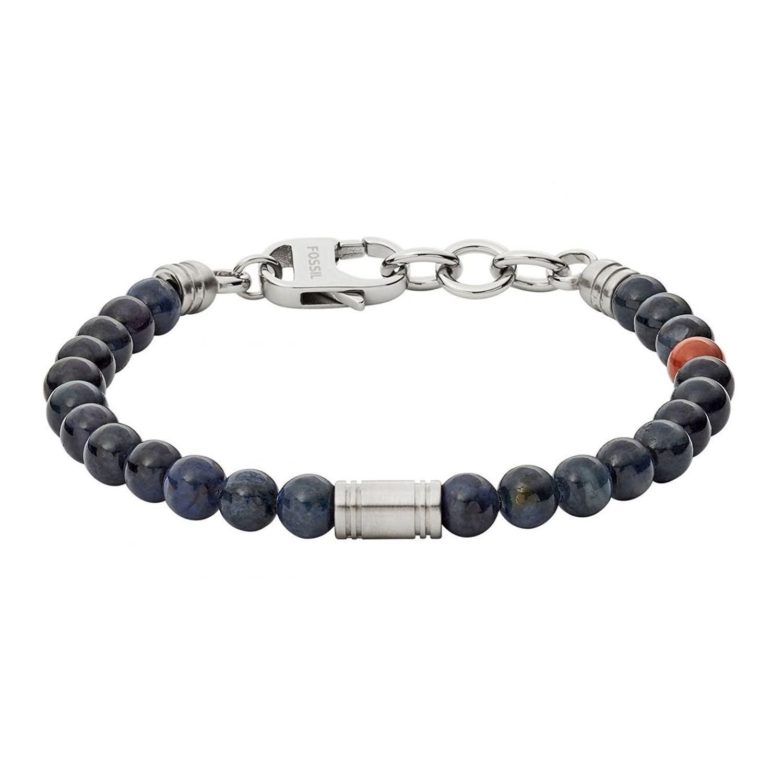 Bracelet FOSSIL en acier et pierre semi-précieuse