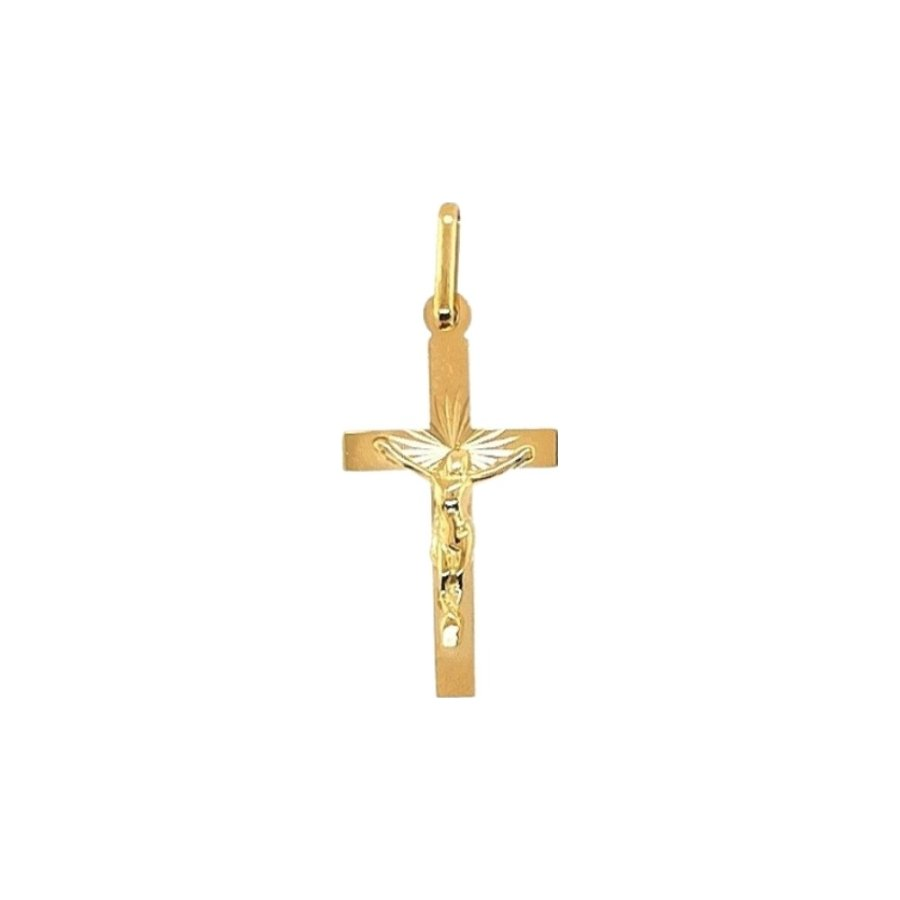 Médaille de baptême Lucas Lucor Christ en or jaune