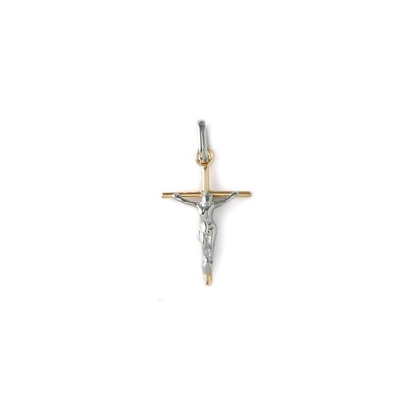 Pendentif croix Lucas Lucor Christ en or blanc