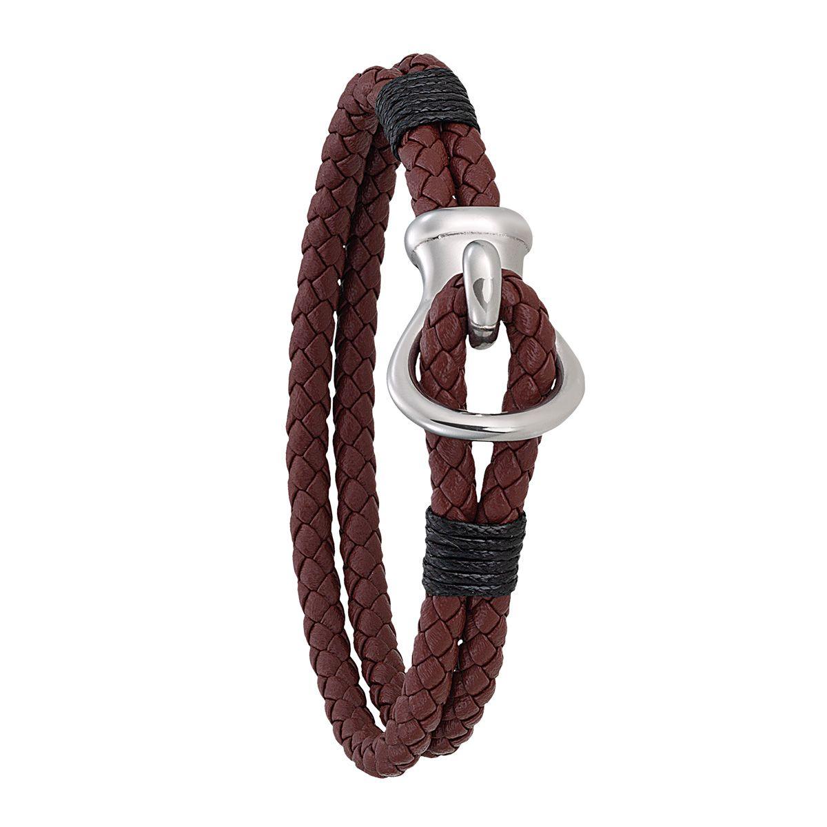 Bracelet Jourdan Bijoux Barth en acier, cuir