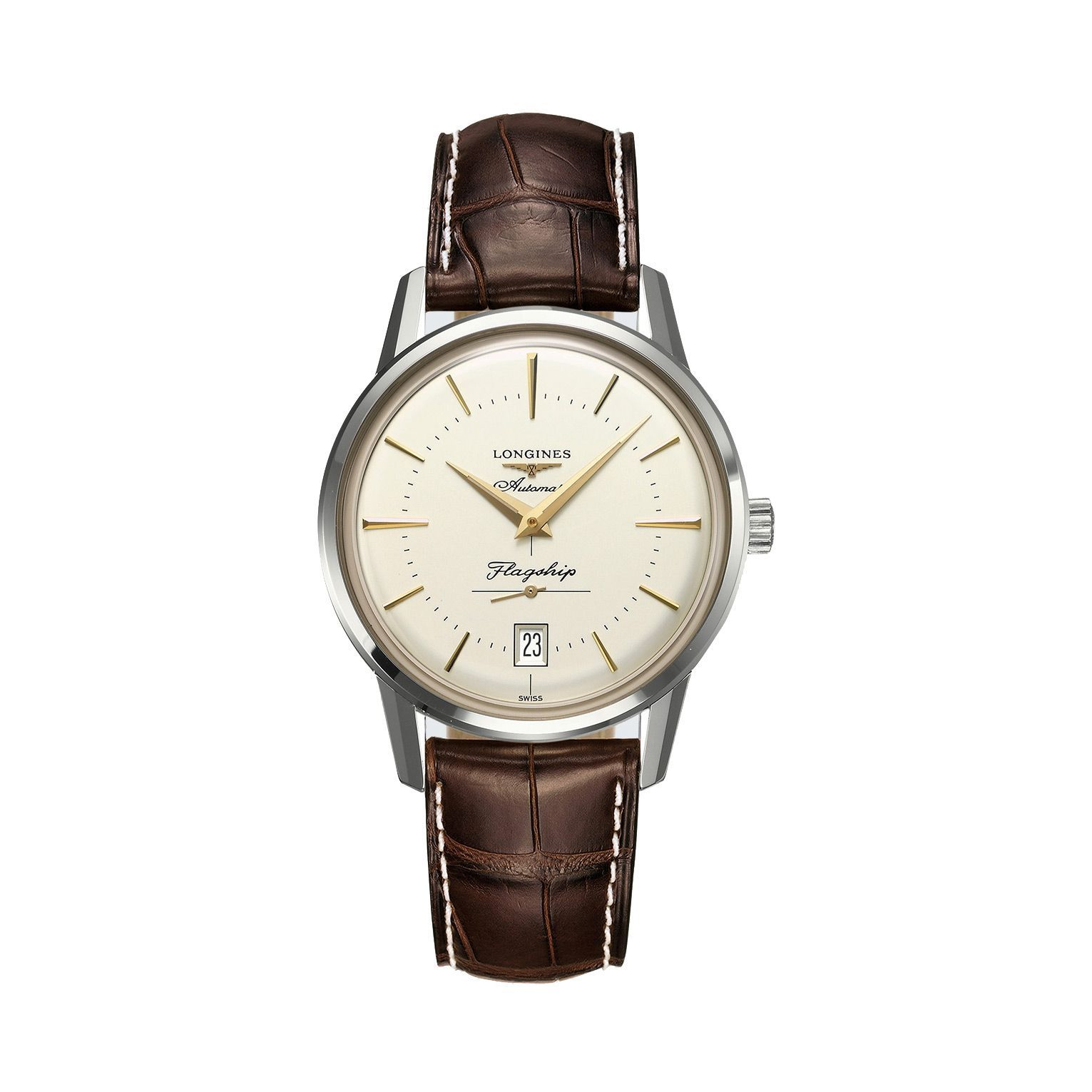Montre Longines Heritage Collection L4.795.4.78.2 vue 3