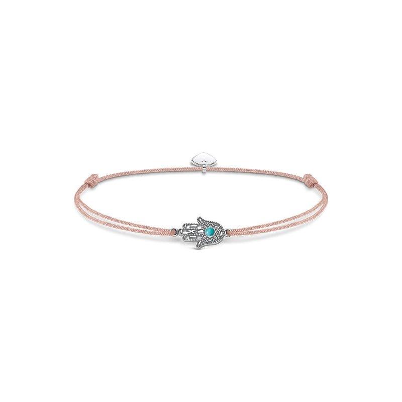 Bracelet Thomas Sabo Little Secret main de Fatima en argent et turquoise vue 1
