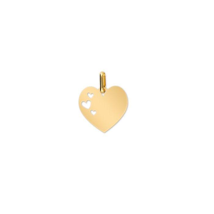 Pendentif Lucas Lucor cœur en or jaune
