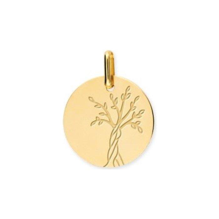 Médaille de baptême Lucas Lucor arbre de vie en or jaune